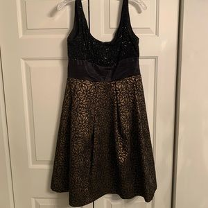 Kay Unger Sequin and Brocade Dress